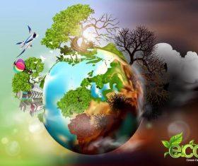 Eco green ecocept poster vector