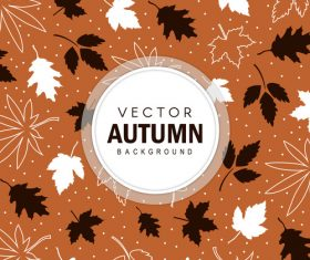 Elegant autumn background art vectors