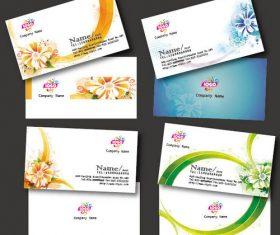 Elegant pattern business card design vector material