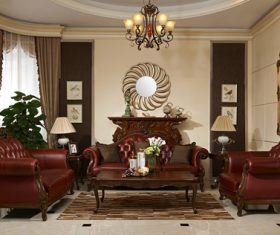 European-style living room design Stock Photo 02