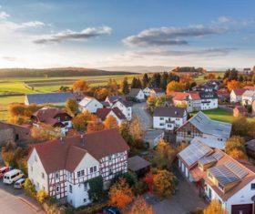 European town natural scenery Stock Photo 02