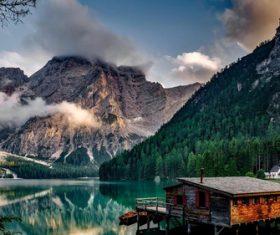 European town natural scenery Stock Photo 03
