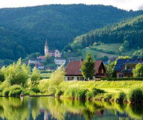European town natural scenery Stock Photo 05
