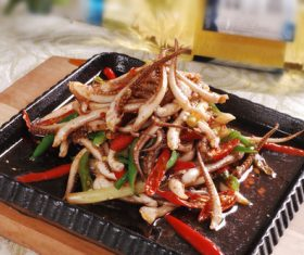 Excellent taste of iron plate squid Stock Photo 01