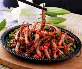 Excellent taste of iron plate squid Stock Photo 08