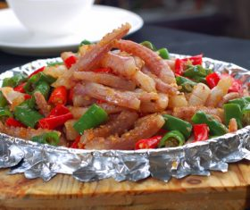 Excellent taste of iron plate squid Stock Photo 09