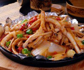 Excellent taste of iron plate squid Stock Photo 10
