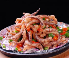 Excellent taste of iron plate squid Stock Photo 11