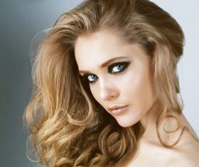 Fashion model face close up Stock Photo 04