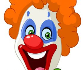 Festival cheerful clown illustration vector 05