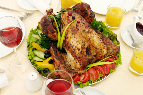 Festive tasty turkey Stock Photo 02