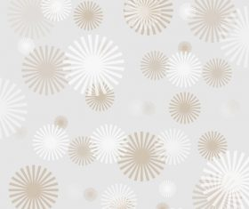 Floral shape abstract background vector