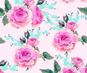 Flower material vector background illustration