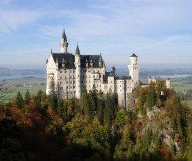 German Neuschwanstein Castle scenery Stock Photo 05