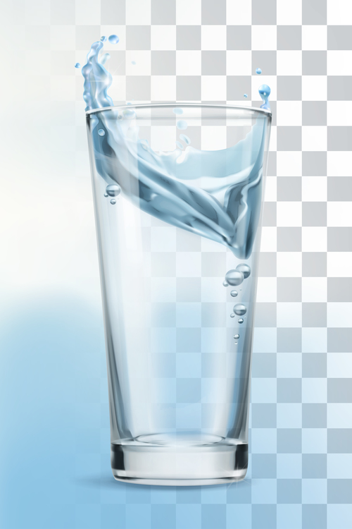 Glass vector object with transparency
