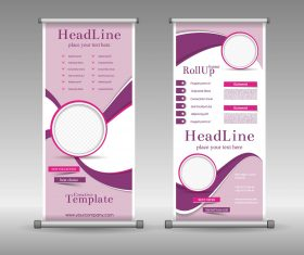 Gold line display board design vector material 01