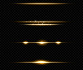 Gold transparent light effect vector illustration 01