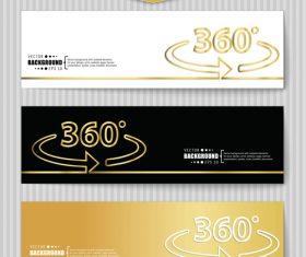 Golden banners template vectors set 21