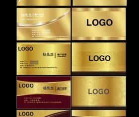 Golden business card vector design illustration
