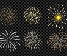 Golden firework illustration vector