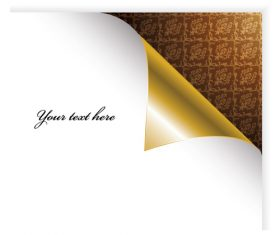 Golden paper corner backgorund vector