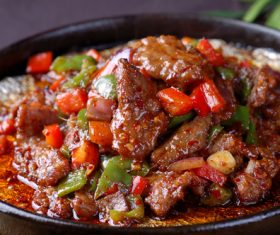 Good to eat iron plate beef tender Stock Photo 01