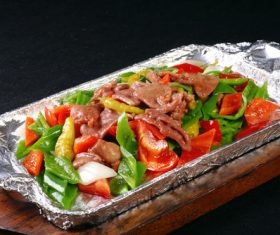 Good to eat iron plate beef tender Stock Photo 02