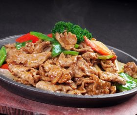 Good to eat iron plate beef tender Stock Photo 03
