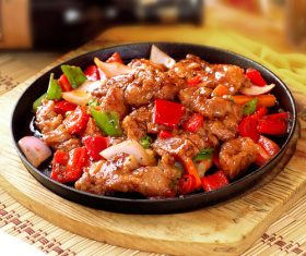 Good to eat iron plate beef tender Stock Photo 06