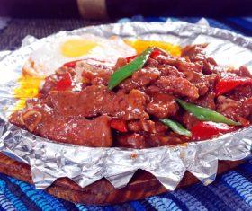 Good to eat iron plate beef tender Stock Photo 07