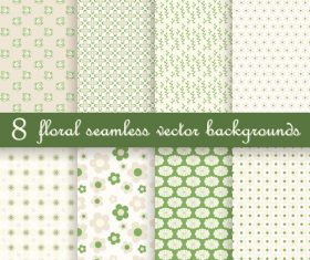 Green floral seamless background vector material