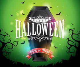 Green halloween background vector design