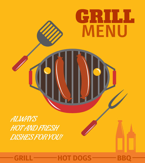 grill bbq menu template vector free download