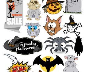 Halloween illustration design vector set 01