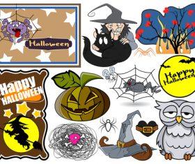Halloween illustration design vector set 02