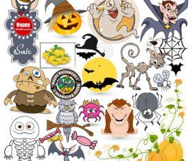 Halloween illustration design vector set 03