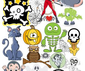 Halloween illustration design vector set 04