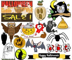 Halloween illustration design vector set 05