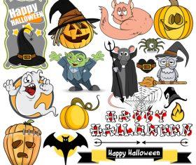Halloween illustration design vector set 06
