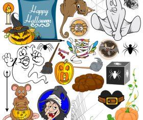 Halloween illustration design vector set 07