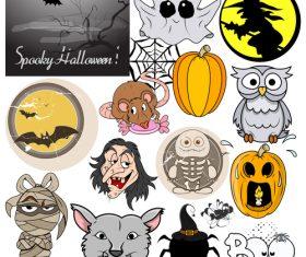 Halloween illustration design vector set 08