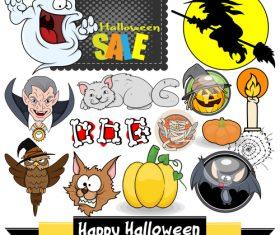Halloween illustration design vector set 09