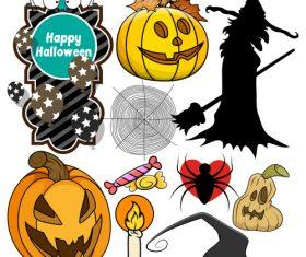 Halloween illustration design vector set 10