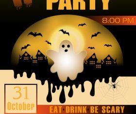Halloween party flyer design vectors 1
