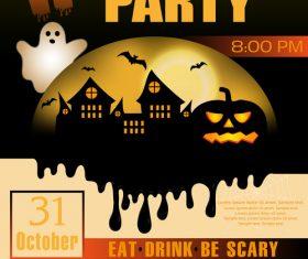 Halloween party flyer design vectors 2