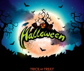 Halloween trick or treat background design vectors