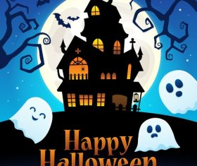 Happy Halloween sign thematic vector