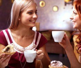 Happy chatting girlfriends Stock Photo 07