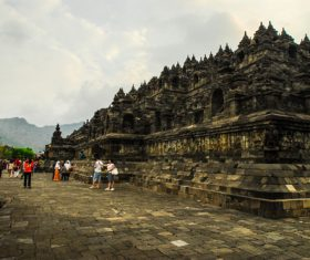 Indonesian Java Island Buddhist Architecture Landscape Stock Photo 02