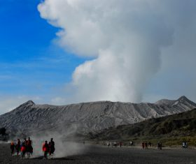 Indonesian Java Island Volcano Stock Photo 02